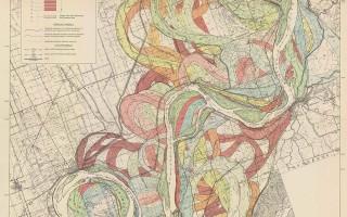 Mississippi Meander Maps - Harold Fisk 1944 Plate 22-2