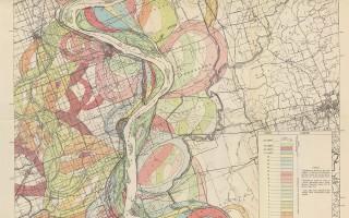 Mississippi Meander Maps - Harold Fisk 1944 Plate 22-3