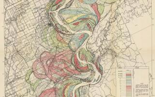 Mississippi Meander Maps - Harold Fisk 1944 Plate 22-4