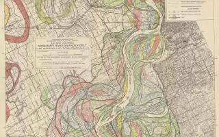 Mississippi Meander Maps - Harold Fisk 1944 Plate 22-5