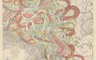 Mississippi Meander Maps - Harold Fisk 1944 Plate 22-6