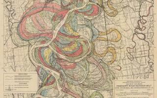 Mississippi Meander Maps - Harold Fisk 1944 Plate 22-8