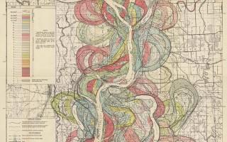 Mississippi Meander Maps - Harold Fisk 1944 Plate 22-9
